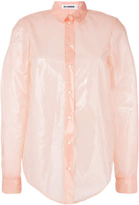 Jil Sander plastic effect shirt