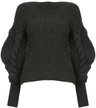 Enfold knitted boat neck sweater