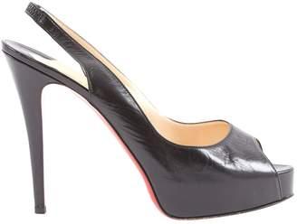 Christian Louboutin Black Leather Heels