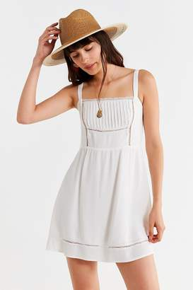 Urban Outfitters Straight-Neck Lace Mini Dress