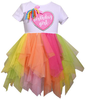 Bonnie Jean Short Sleeve Birthday Girl TUTU Dress Dress - Infant Girls
