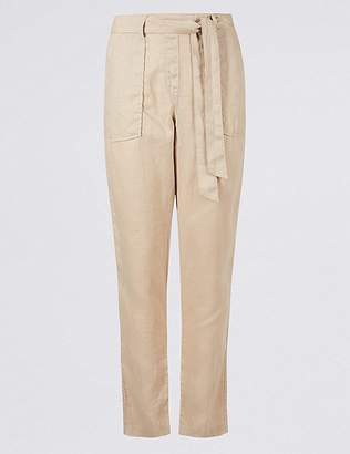 Marks and Spencer Pure Linen Peg Trousers
