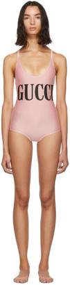 Gucci Pink Sparkling One-Piece Swimsuit