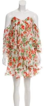 Caroline Constas Silk Printed Mini Dress