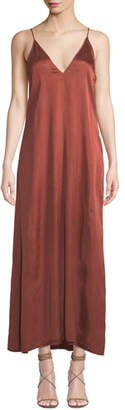 Forte Forte V-Neck Sleeveless Long Satin Slip Dress