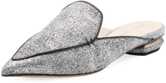 Nicholas Kirkwood Beya Woven Flat Loafer Mule