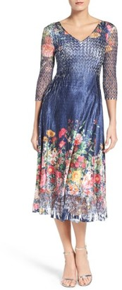 Women's Komarov Floral Print A-Line Dress $308 thestylecure.com