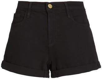 Frame High-Rise Denim Shorts