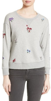 Women's Soft Joie Rikke B Embroidered Sweatshirt $228 thestylecure.com