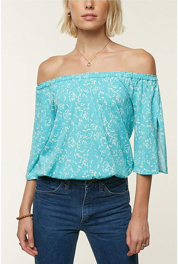 O'Neill Radiate Off-The-Shoulder Printed Top