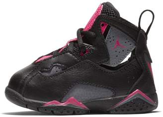 Jordan Nike Toddlers True Flight GT Black/Dark/Grey/Deadly/Pink Basketball Shoe 8 Infants US