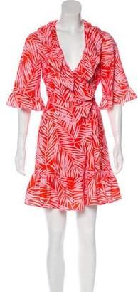 Au Jour Le Jour Ruffle-Accented Mini Dress w/ Tags