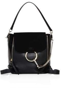 Chloé Small Faye Leather& Suede Backpack
