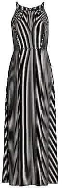 Donna Karan Women's Stripe Maxi Dress - Size 0