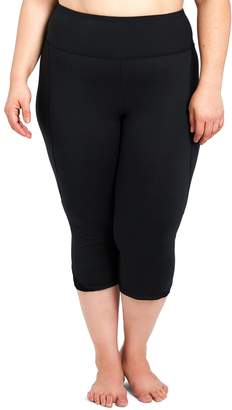 Plus Size Balance Collection Mesh Capri Leggings