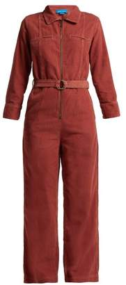 MiH Jeans Drayson Cotton Corduroy Jumpsuit - Womens - Dark Red