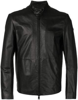 Emporio Armani zipped leather jacket