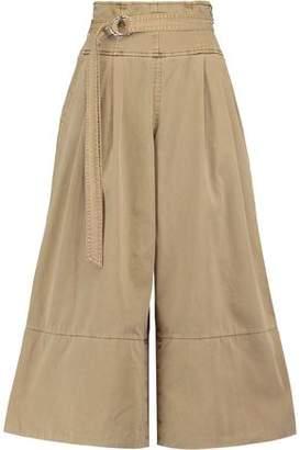 Cinq à Sept Sandy Belted Cotton-Twill Culottes