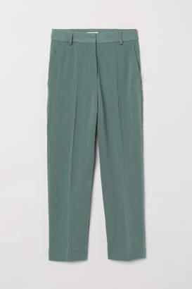 H&M Ankle-length Suit Pants - Green