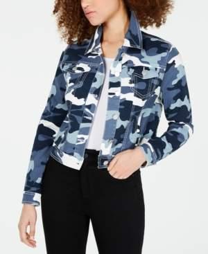 Joujou Jou Jou Juniors' Camo Printed Denim Jacket