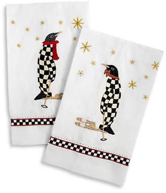 Mackenzie Childs MacKenzie-Childs Penguin Two-Piece Guest Towel Set