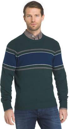Izod Striped Crew Sweater Crew Neck Long Sleeve Pullover Sweater