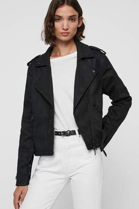 Womens Waxed Biker Jacket Shopstyle Uk