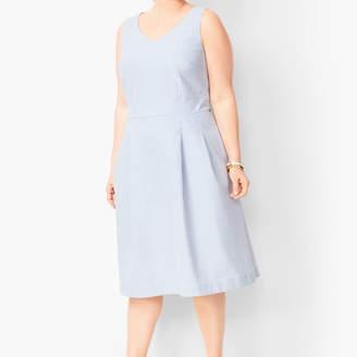Talbots Lightweight Seersucker Fit & Flare Dress