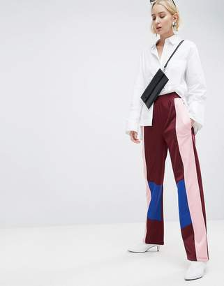 Asos DESIGN Track Pant Pants with Color Block Detail