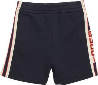 Gucci Logo Stripe Jogging Shorts
