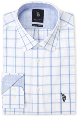 U.S. Polo Assn. Blue Windowpane Dress Shirt