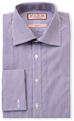 Thomas Pink Slim Fit Douall Long Sleeve Dress Shirt