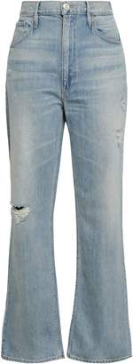 3x1 Addie Distressed High-rise Flared Jeans