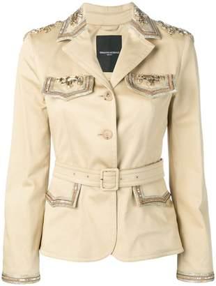 Ermanno Scervino embellished belted jacket