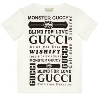 Gucci Children's T-shirt with panthers