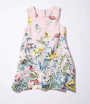 LOFT Littles Border Floral Shift Dress