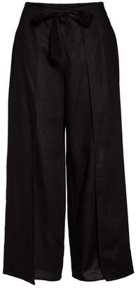 1 STATE 1.State Tie Front Split Seam Wide Leg Pants