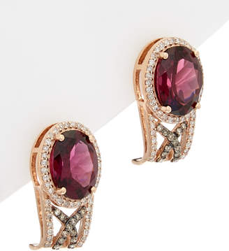 Effy Fine Jewelry 14K Rose Gold 4.92 Ct. Tw. Diamond & Rhodolite Drop Earrings