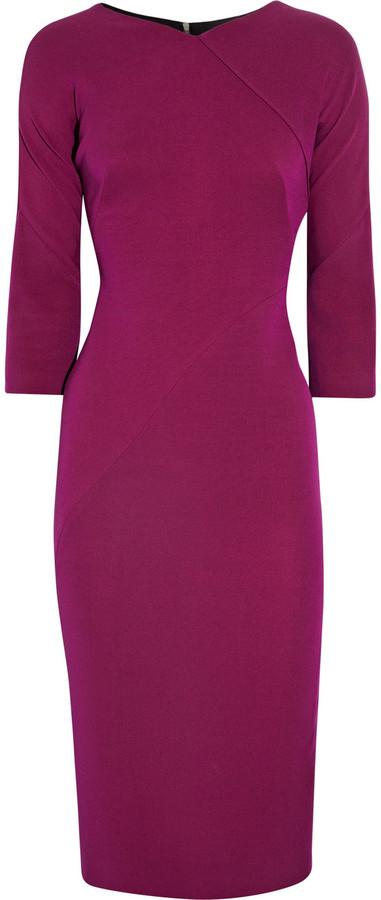 Victoria Beckham Silk-blend double-crepe dress