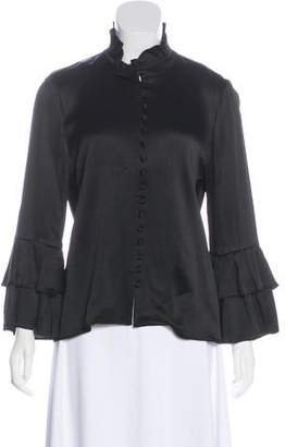 Vince Long Sleeve Button-Up Top