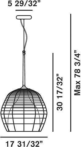 Foscarini Diesel Collection Cage Grande Suspension Lamp