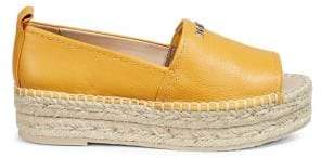 DKNY Open-Toe Leather Espadrilles