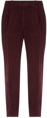 Brunello Cucinelli Pleat Front Corduroy Trousers