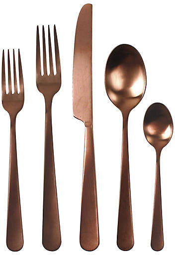 5-Pc Como Flatware Set - Copper - Canvas