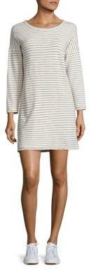 Current/Elliott The Painter Striped Cotton T-Shirt Dress $148 thestylecure.com