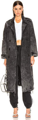Alexander Wang Trench Coat in Marbled Dark Grey | FWRD