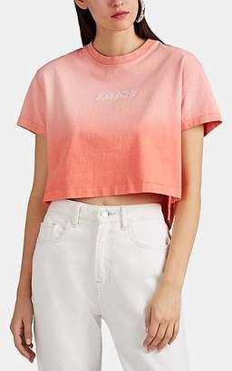Jordache Women's Logo-Embroidered Ombré Cotton Crop T-Shirt - Orange
