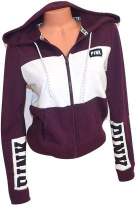 Victoria's Secret Pink Pink Perfect Full Zip Hoodie Color Black Orchid NWT