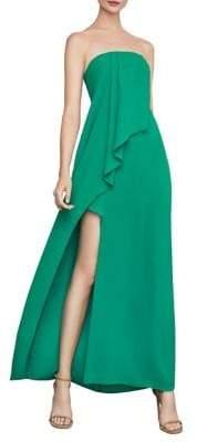 BCBGMAXAZRIA Draped-Front Strapless Gown
