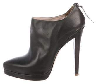 Miu Miu Leather Ankle Boots Brown Leather Ankle Boots